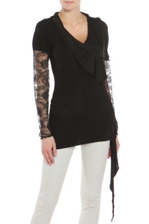 Блуза Maria Grazia Severi. Цвет: черный