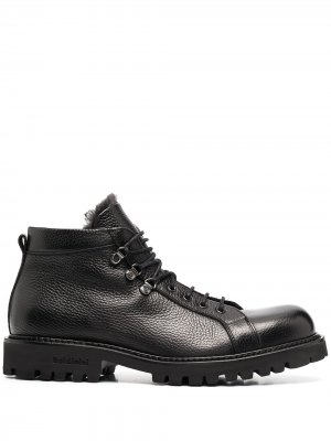 Ботинки на шнуровке Baldinini. Цвет: черный