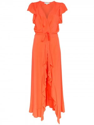 Платье макси Brianna с запахом Melissa Odabash. Цвет: оранжевый