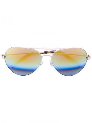 Солнцезащитные очки-авиаторы Matthew Williamson. Цвет: металлик