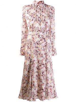 Платье-рубашка Bancort Equipment. Цвет: розовый