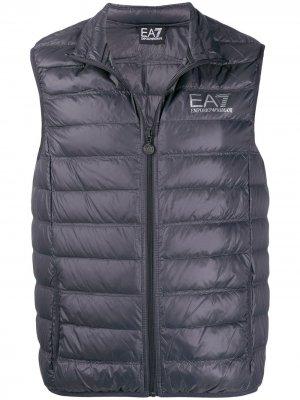Стеганый жилет Ea7 Emporio Armani. Цвет: серый