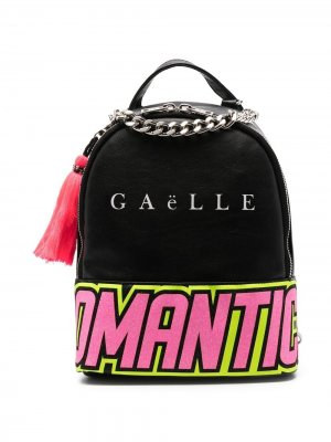 Рюкзак с надписью Gaelle Paris Kids. Цвет: черный