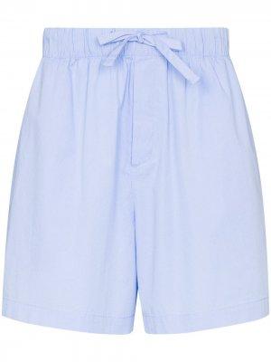 Пижамные шорты TEKLA. Цвет: синий