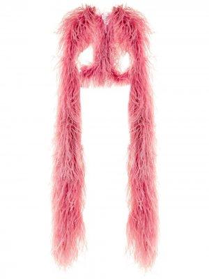 Шаль с отделкой перьями 16Arlington. Цвет: розовый