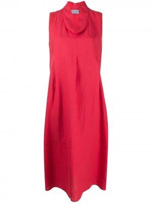 Платье-рубашка без рукавов Malo. Цвет: красный