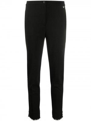 Декорированные брюки скинни Twin-Set. Цвет: черный