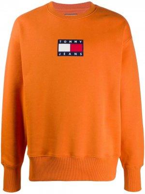 Толстовка с нашивкой-логотипом Tommy Jeans. Цвет: оранжевый