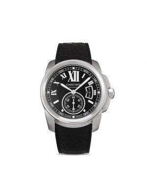 Наручные часы Calibre de  pre-owned 42 мм 2011-го года Cartier. Цвет: черный