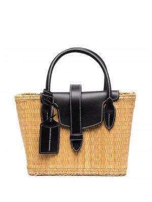 Соломенная сумка-тоут Ermanno Scervino. Цвет: нейтральные цвета