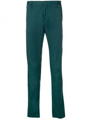 Прямые брюки Boss Hugo. Цвет: зеленый