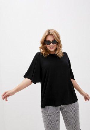 Блуза Vero Moda Curve. Цвет: черный