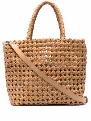 Плетеная сумка-тоут Officine Creative. Цвет: коричневый