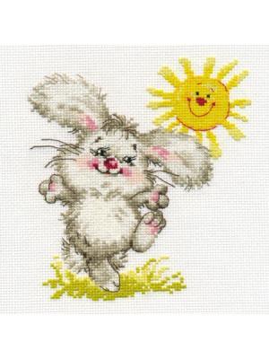 Набор для вышивания Самый солнечный день  15х16 см Алиса. Цвет: белый, желтый, салатовый, светло-серый, серый