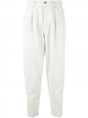 Зауженные джинсы SONGZIO. Цвет: белый