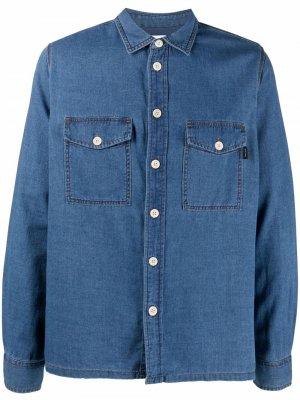 Джинсовая рубашка с длинными рукавами PS Paul Smith. Цвет: синий