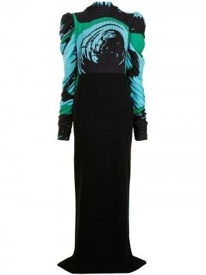 Платье макси Thalia Solace London. Цвет: черный