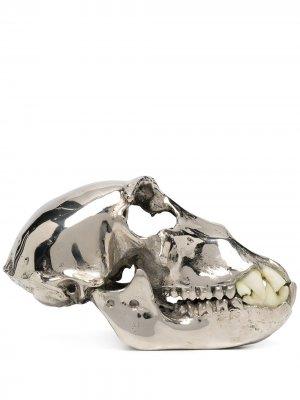 Декоративная фигурка в форме обезьяньего черепа Parts of Four. Цвет: серебристый