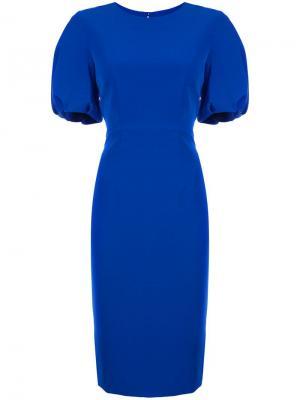 Однотонное платье Milly. Цвет: синий