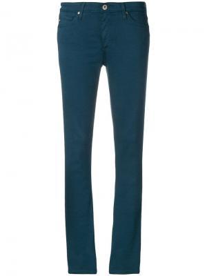 Зауженные джинсы кроя слим Ag Jeans. Цвет: синий