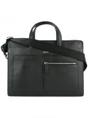 Сумка для ноутбука с боковым карманом Cerruti 1881. Цвет: черный