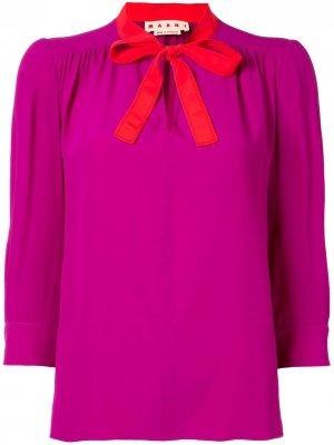 Блузка с рукавами три четверти Marni. Цвет: фиолетовый