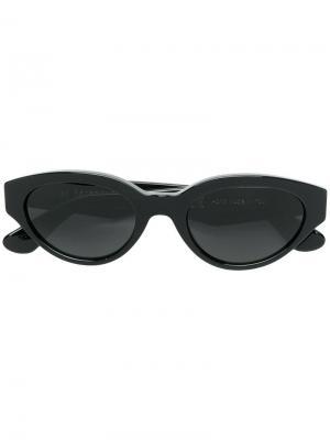 Солнцезащитные очки кошачий глаз Retrosuperfuture. Цвет: черный