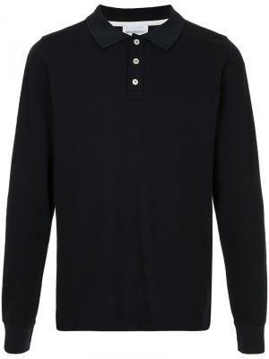 Рубашка-поло с длинным рукавом is Pique Norse Projects. Цвет: синий