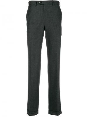 Classic cropped trousers Brioni. Цвет: серый
