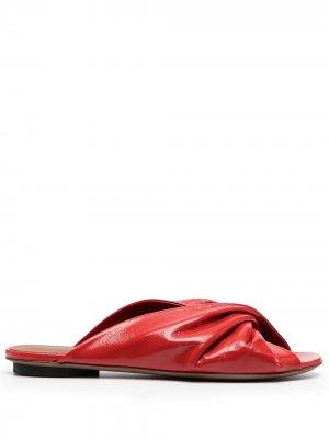 LAutre Chose сандалии с драпировкой L'Autre. Цвет: красный