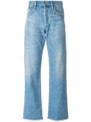 Укороченные брюки Citizens Of Humanity. Цвет: синий