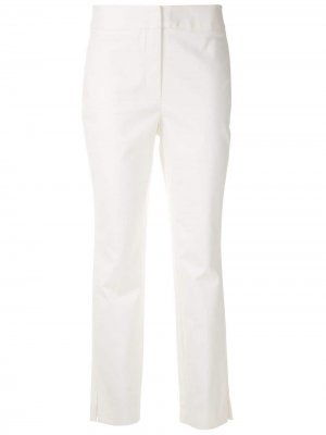 Строгие брюки прямого кроя Eva. Цвет: белый