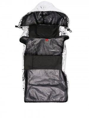 Куртка с капюшоном и эффектом металлик Moncler x Poldo. Цвет: серебристый