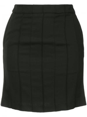 Теннисная мини-юбка We11done. Цвет: черный