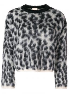 Джемпер с леопардовым принтом Nude. Цвет: серый