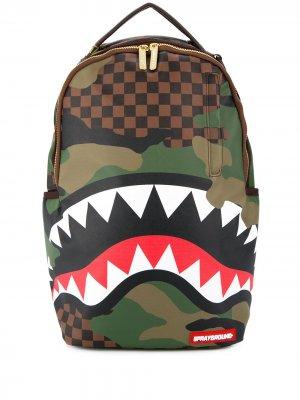 Рюкзак с принтом Sprayground. Цвет: зеленый