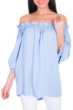 Блузка Argent. Цвет: голубой
