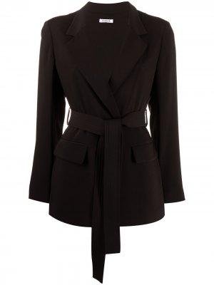 Легкая куртка с поясом P.A.R.O.S.H.. Цвет: черный