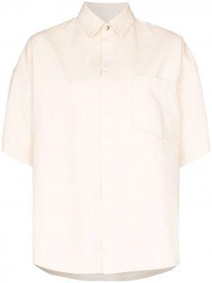 Рубашка оверсайз с воротником Jil Sander. Цвет: нейтральные цвета