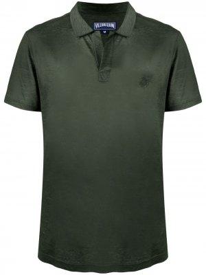 Рубашка поло с открытым воротником Vilebrequin. Цвет: зеленый