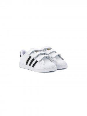 Кеды Superstar на липучках adidas Kids. Цвет: белый