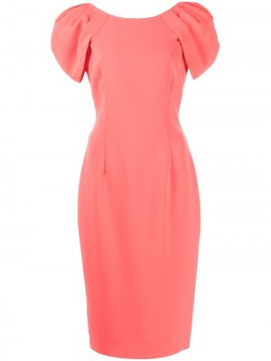 Коктейльное платье Marchesa Notte. Цвет: оранжевый