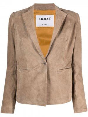 Приталенный пиджак S.W.O.R.D 6.6.44. Цвет: коричневый