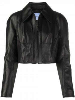 Куртка на молнии Mugler. Цвет: черный