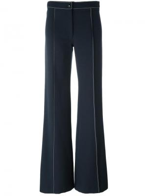 Расклешенные брюки Lemaire. Цвет: синий