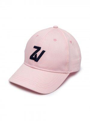 Бейсболка с вышитым логотипом Zadig & Voltaire Kids. Цвет: розовый