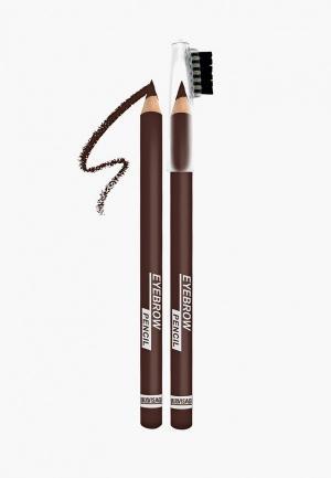 Карандаш для бровей Luxvisage. Цвет: коричневый