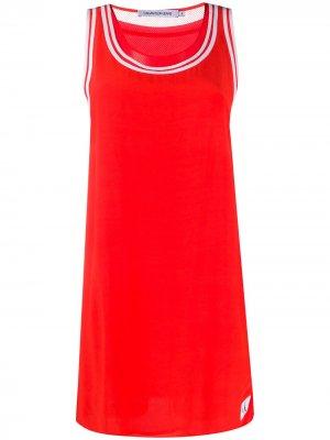 Платье с контрастным кантом Calvin Klein Jeans. Цвет: красный