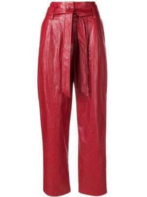 Varnished cropped trousers 8pm. Цвет: красный