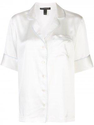 Рубашка в пижамном стиле с кантом Kiki de Montparnasse. Цвет: белый